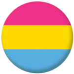Pansexual Pride Flag 25mm Button Badge